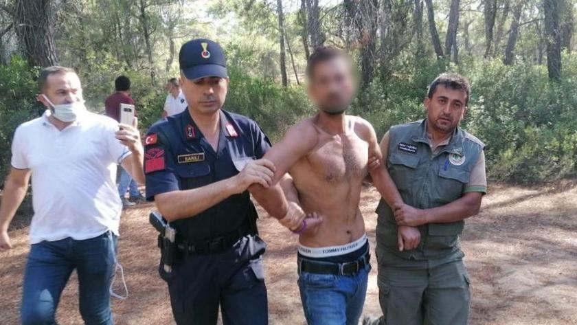 Manavgat'ta ormanı yakarken suçüstü yakalan kişi  bakın ne çıktı