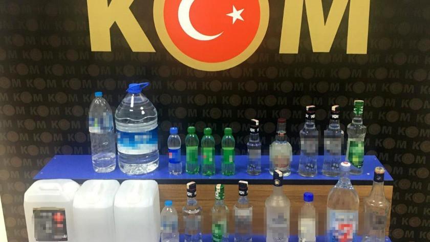 Edirne'de sahte içki operasyonu