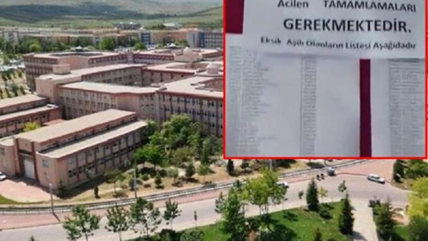 Selçuk Üniversitesi aşılı ve aşısız öğrenci listesini  ilan etti!