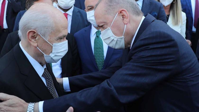 Cumhurbaşkanı Erdoğan Devlet Bahçeli ile Meclis'te buluştu