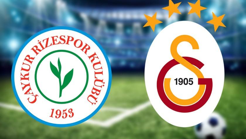 Çaykur Rizespor Galatasaray maçı ne zaman saat kaçta hangi kanalda?