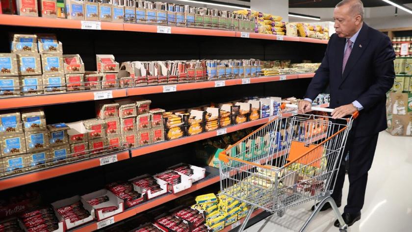 Erdoğan alışveriş sonrası konuştu 'Fiyatlar gayet uygun'