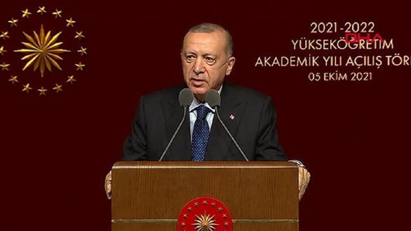 Cumhurbaşkanı Erdoğan Akademik Yılı Açılış Töreni'nde konuştu