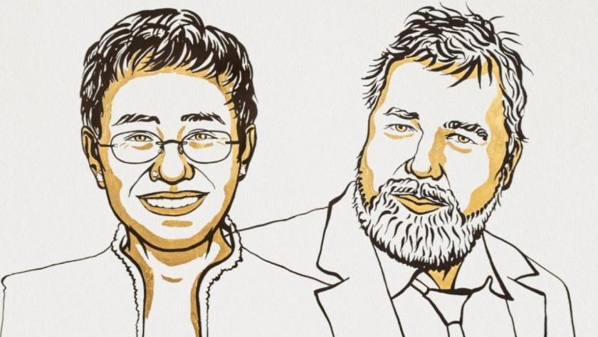 2021 Nobel Barış Ödülü iki gazeteciye verildi