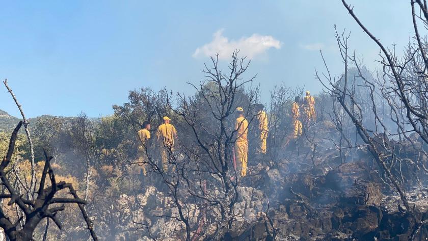 Antalya Kaş'ta yangın! İtfaiye müdahale ediyor