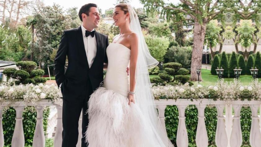 Sabancı ile evlenen Nazlı Kayı'nın gelinliğinin fiyatı dudak uçuklattı