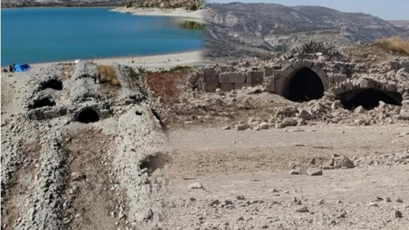 Sular çekilince ortaya çıktı! Konya'da görenler şaştı kaldı: 8 asırdır
