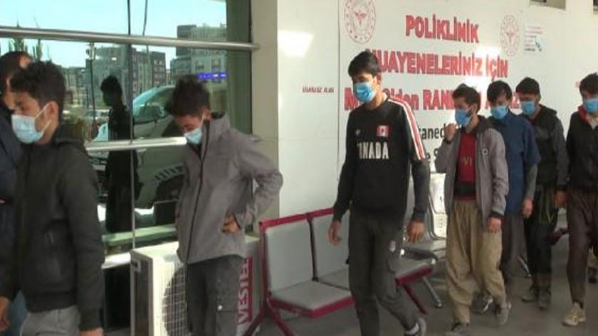 Kırıkkale'de yolcu otobüsünde 10 Afgan kaçak yakalandı