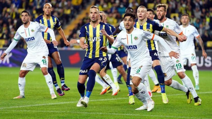 Fenerbahçe - Alanyaspor maç sonucu: 1-2 (Maç Özeti)
