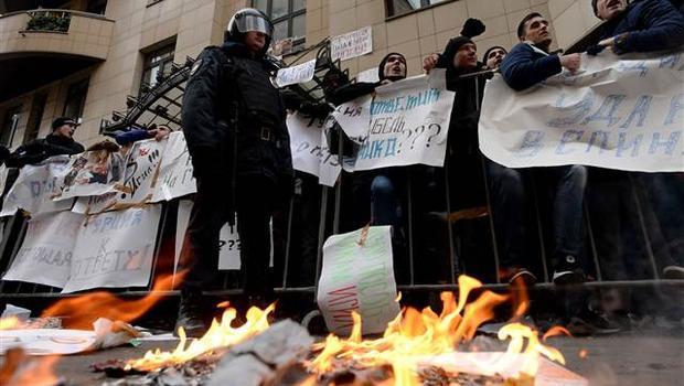 Moskova'da Türk Büyükelçiliği'ne çirkin saldırı