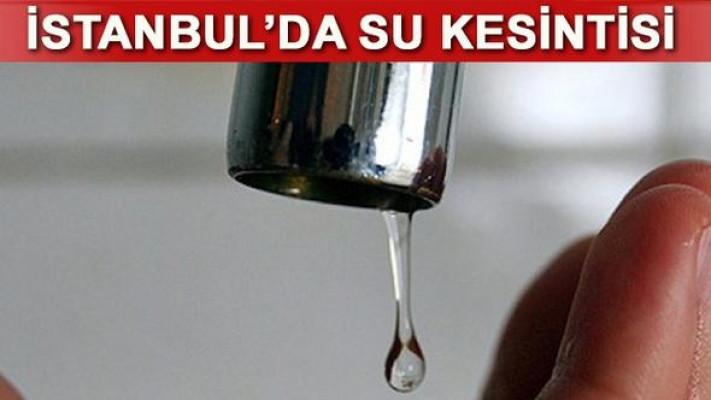İstanbul'da su kesintisi! Bayrampaşa'da sular ne zaman gelecek?