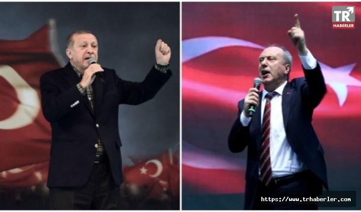 İşte Erdoğan'ın Muharrem İnce karşısındaki oy oranı...