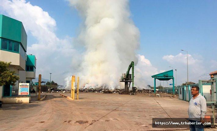 Fabrikada dün çıkan yangın hala söndürülemedi!