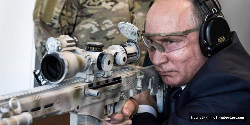 Vladimir Putin, keskin nişancı tüfeği ile 600 metreden hedefi vurdu