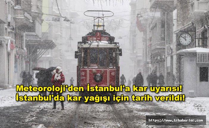 Meteoroloji'den İstanbul'a kar uyarısı! İstanbul'da kar yağışı için tarih verildi!
